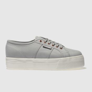 Superga Light Grey 2790 Flatform Womens Trainers