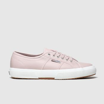 Superga Pink 2750 Leather c2namevalue::Womens Trainers