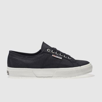 Superga Navy 2750 Nylon Womens Trainers