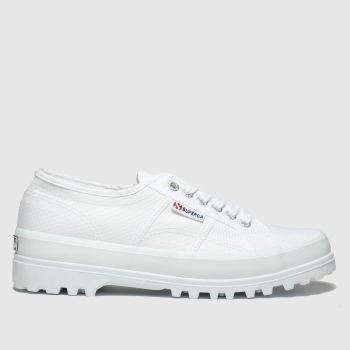 Superga White 2555 Cotu Womens Trainers