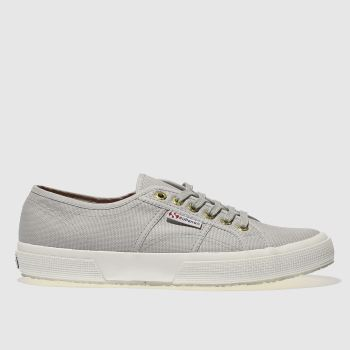 Superga Light Grey 2750 Canvas Womens Trainers