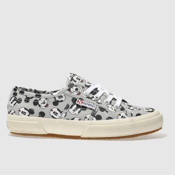 Superga Grey 2750 Disney Mickey Mouse Womens Trainers