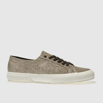 Superga Gold 2750 Microglitter Womens Trainers