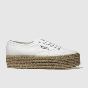 Superga White 2790 Cotrope Womens Trainers