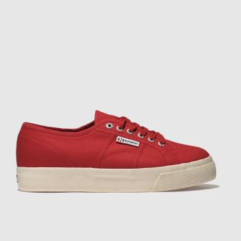 Superga Red 2730 Cotu Canvas Womens Trainers