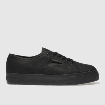 Superga Black 2730 Cotu Canvas Womens Trainers