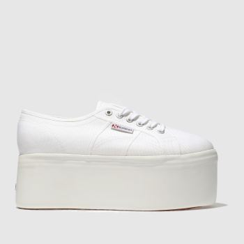 Superga White 2802 Super Platform Womens Trainers