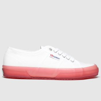 Superga White & Pink 2750 Trans Sole Womens Trainers