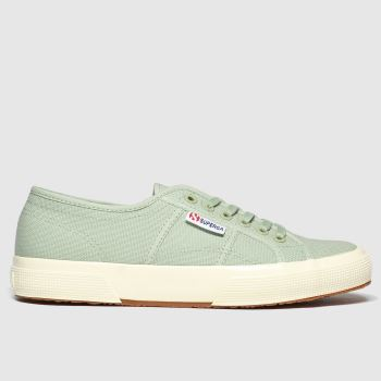 Superga Light Green 2750 Gloss Sole Womens Trainers