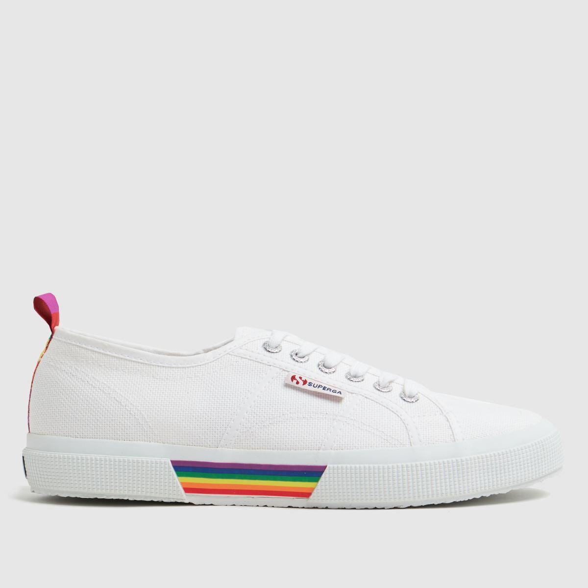 Superga White 2750 Pride Backstrap Trainers