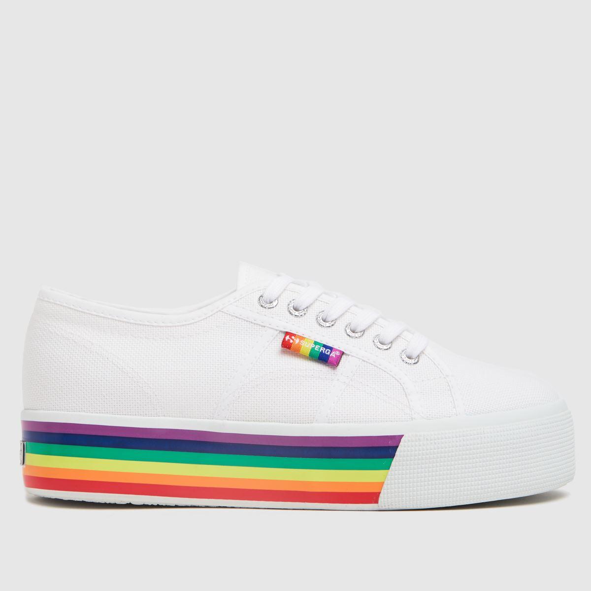 Superga White 2790 Pride Trainers