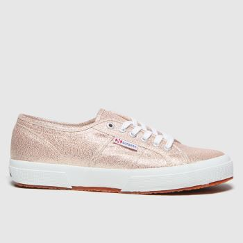 Superga Bronze 2750 Lamew Rose Plat Womens Trainers