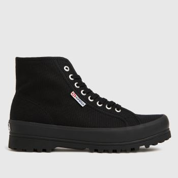 Superga Black 2341 Alpina Cotu Womens Trainers#