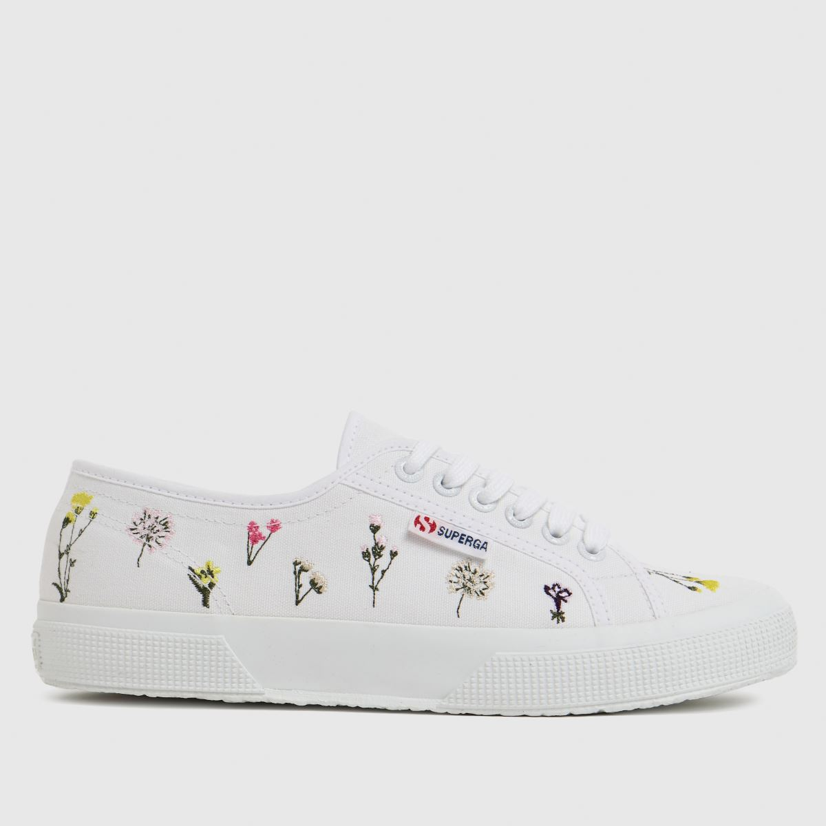 Superga White 2750 Flower Bloom Trainers