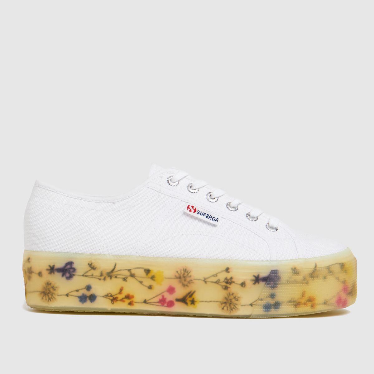 Superga White 2790 Jellygum Flower Bloom Trainers