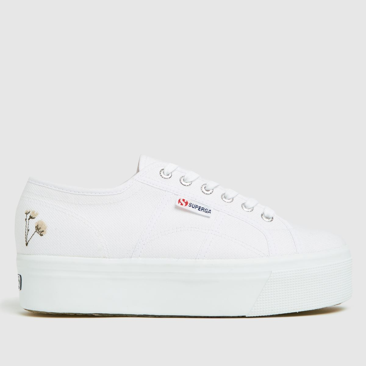 Superga White 2790 Flower Bloom Trainers