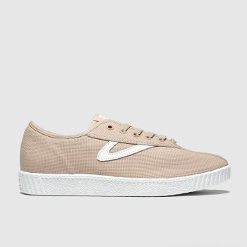 Tretorn Pale Pink Nylite Canvas Womens Trainers