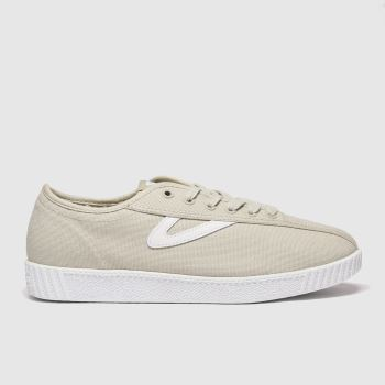 Tretorn Light Grey Nylite Canvas Womens Trainers#