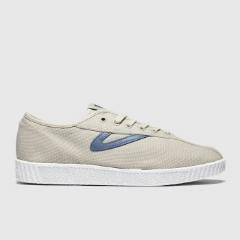 Tretorn Beige & Navy Nylite Canvas Womens Trainers