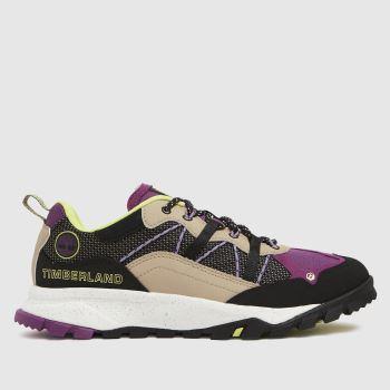 Timberland Black & Purple Garrison Low Womens Trainers