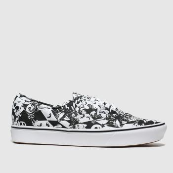 Vans black & white comfycush authentic x tnbc trainers