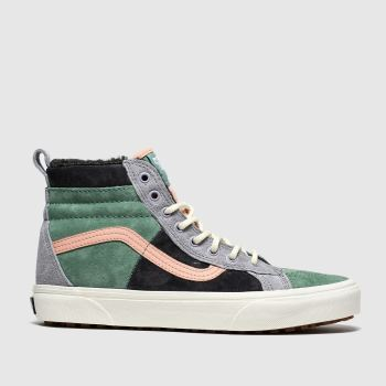 Vans Green & Stone Sk8-hi Mte Dx Womens Trainers