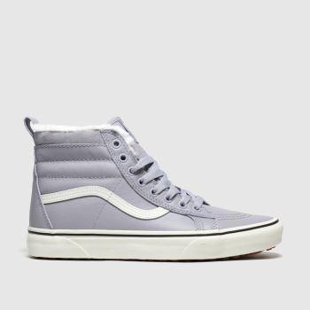 Vans light grey sk8-hi mte trainers