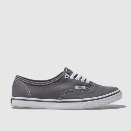 womens vans dark grey authentic lo pro trainers