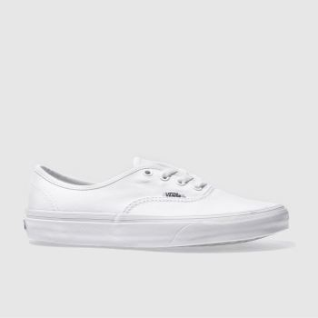 Vans White Authentic Womens Trainers 1a2f840a9