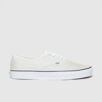 Vans White & Silver Authentic Womens Trainers