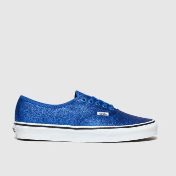 Vans Blue Authentic Glitter Womens Trainers