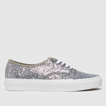 Vans Silver Shiny Party Authentic Womens Trainers