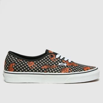 Vans Black & Brown Authentic Tiger Floral Womens Trainers