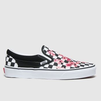 Vans White & Pink Classic Slip-on Cherry Blossom Womens Trainers