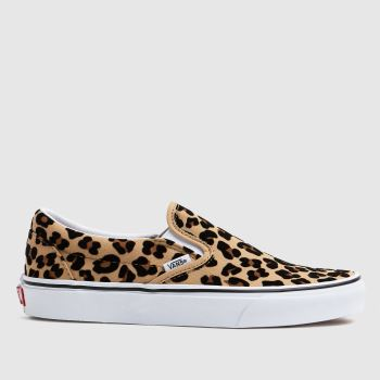 Vans Tan Classic Slip-on Leopard Womens Trainers