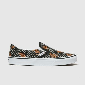 Vans Black & Brown Classic Slip-on Tiger Floral Womens Trainers#