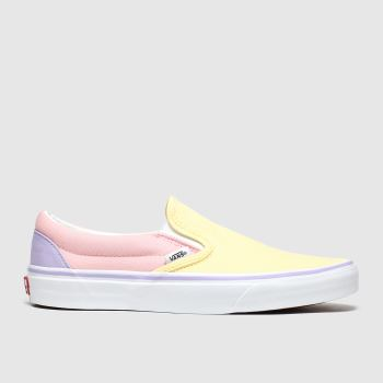 Vans Yellow & Pink Classic Slip-on Pastel Womens Trainers