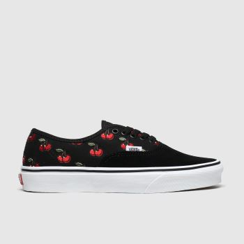 Vans Black & Red Authentic Cherries Womens Trainers#