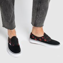vans black & red authentic cherries trainers