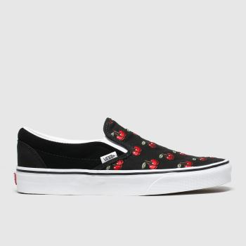 Vans Black & Red Classic Slip-on Cherries Womens Trainers