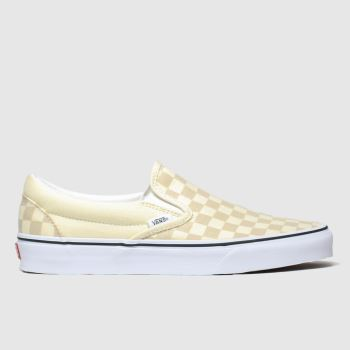 Vans White & Beige Classic Slip-on Check Womens Trainers
