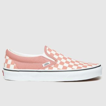 Vans Pale Pink Classic Slip-on Check Womens Trainers#
