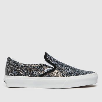 Vans Black Shiny Party Slip-on Womens Trainers