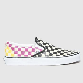 Vans Multi Classic Slip-on Glitter Check Womens Trainers