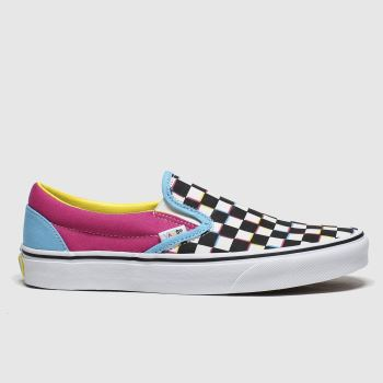 Vans Multi Classic Slip-on Crazy Check c2namevalue::Womens Trainers