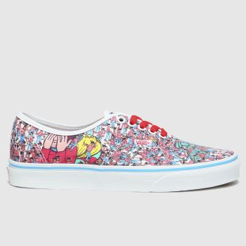 Vans Multi Authentic Wheres Waldo Womens Trainers