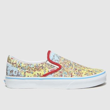 Vans Multi Classic Slip-on Wheres Waldo Womens Trainers