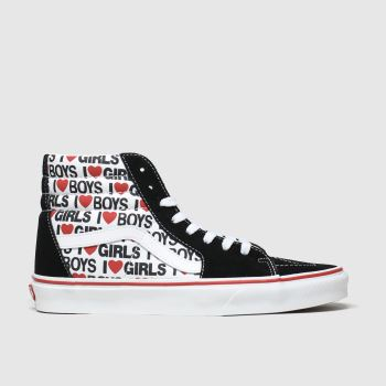 Vans White & Red Sk8-hi I Heart Womens Trainers