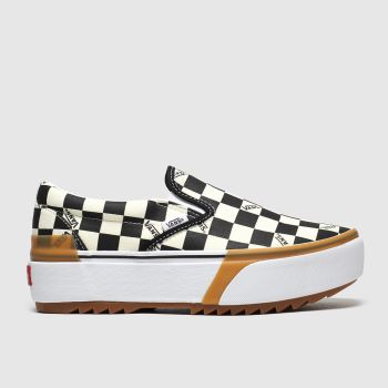 Vans White & Black Classic Slip-on Stacked c2namevalue::Womens Trainers
