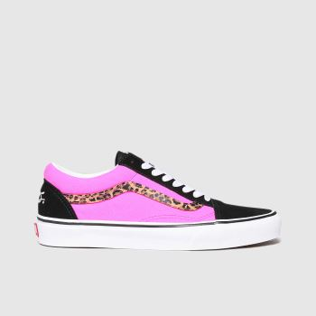 Vans Black & pink Old Skool Womens Trainers